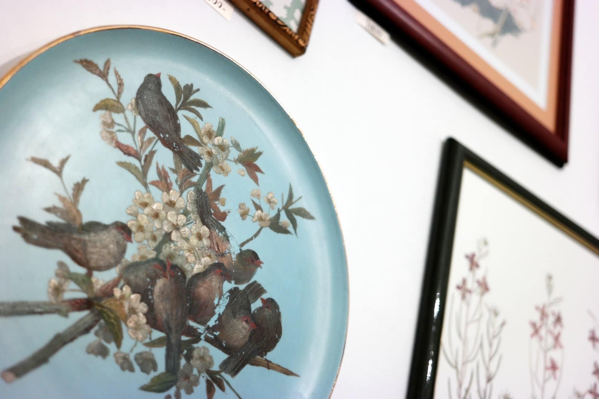 angol tányér az 1800-as évekből