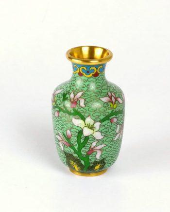 Régi tűzzománc váza