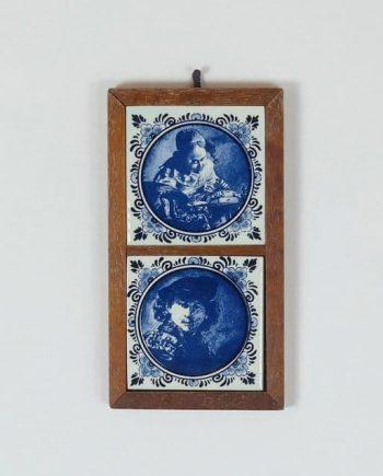 Delfti kézzel festett csempék