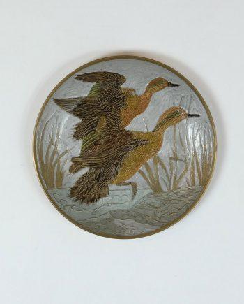 réz fali tányér kacsákkal
