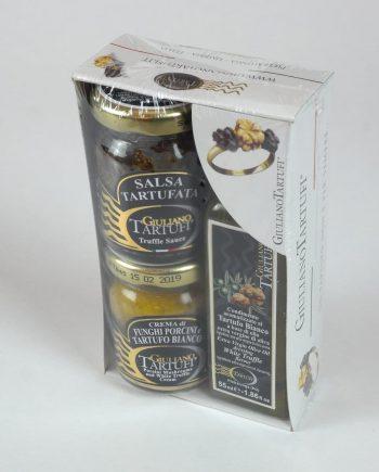 Szarvasgomba pép + vargányakrém +olívaolaj