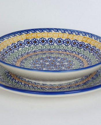 6 személyes, 12 darabos étkészlet (lapos és mály tányérok)