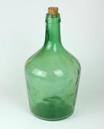 Régi nagy zöld üveg dugóval