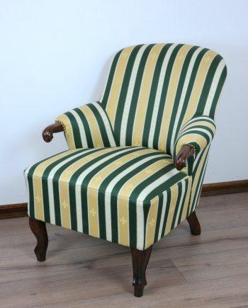 Karfás hattyúlábas fotel