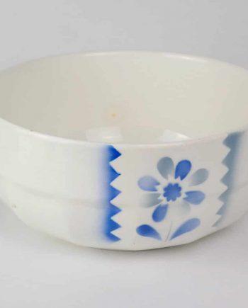 gránit tál kék virággal