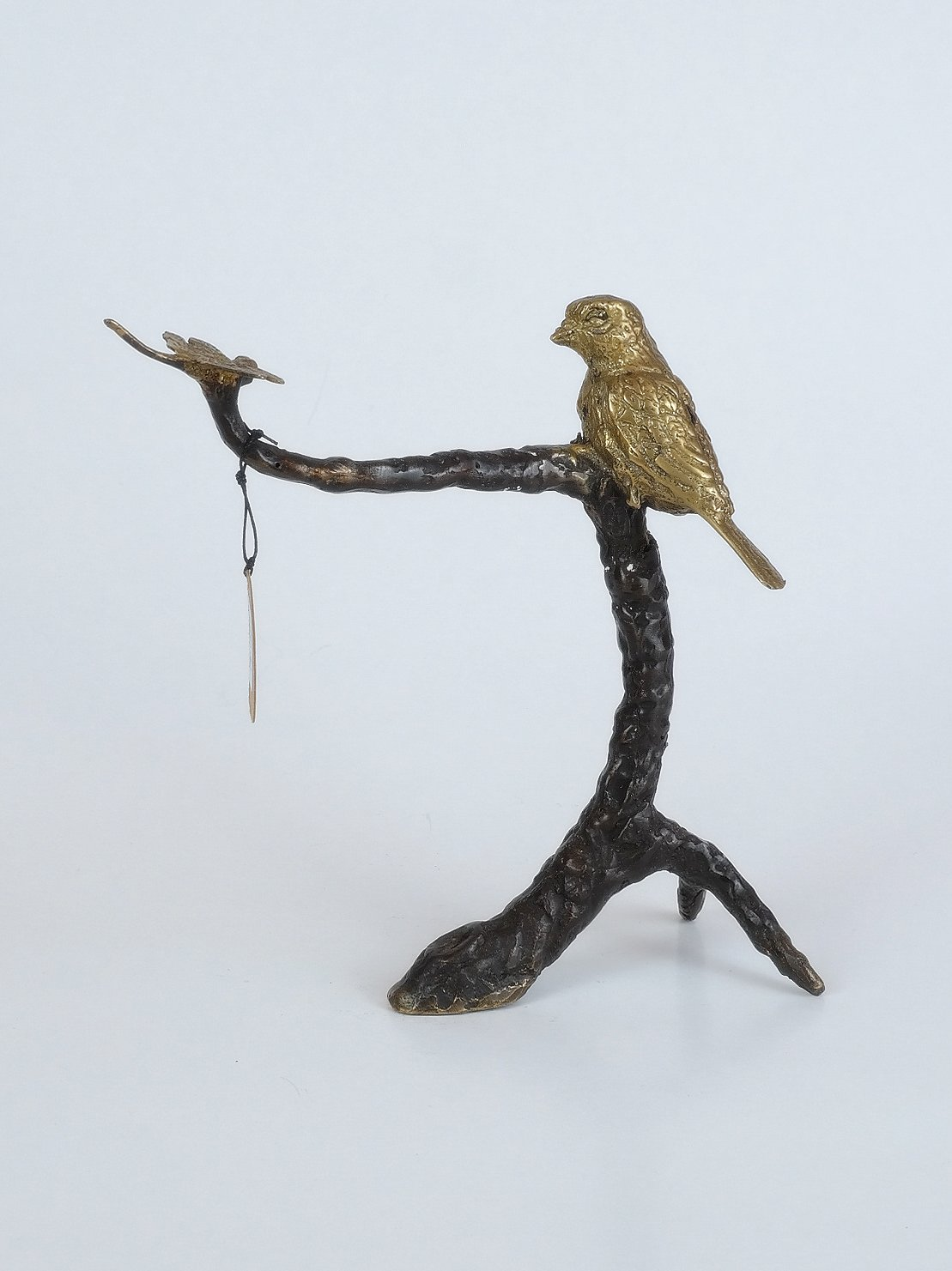 Réz és bronz madaras szobor Indonéziából, Baliról, Ubudból