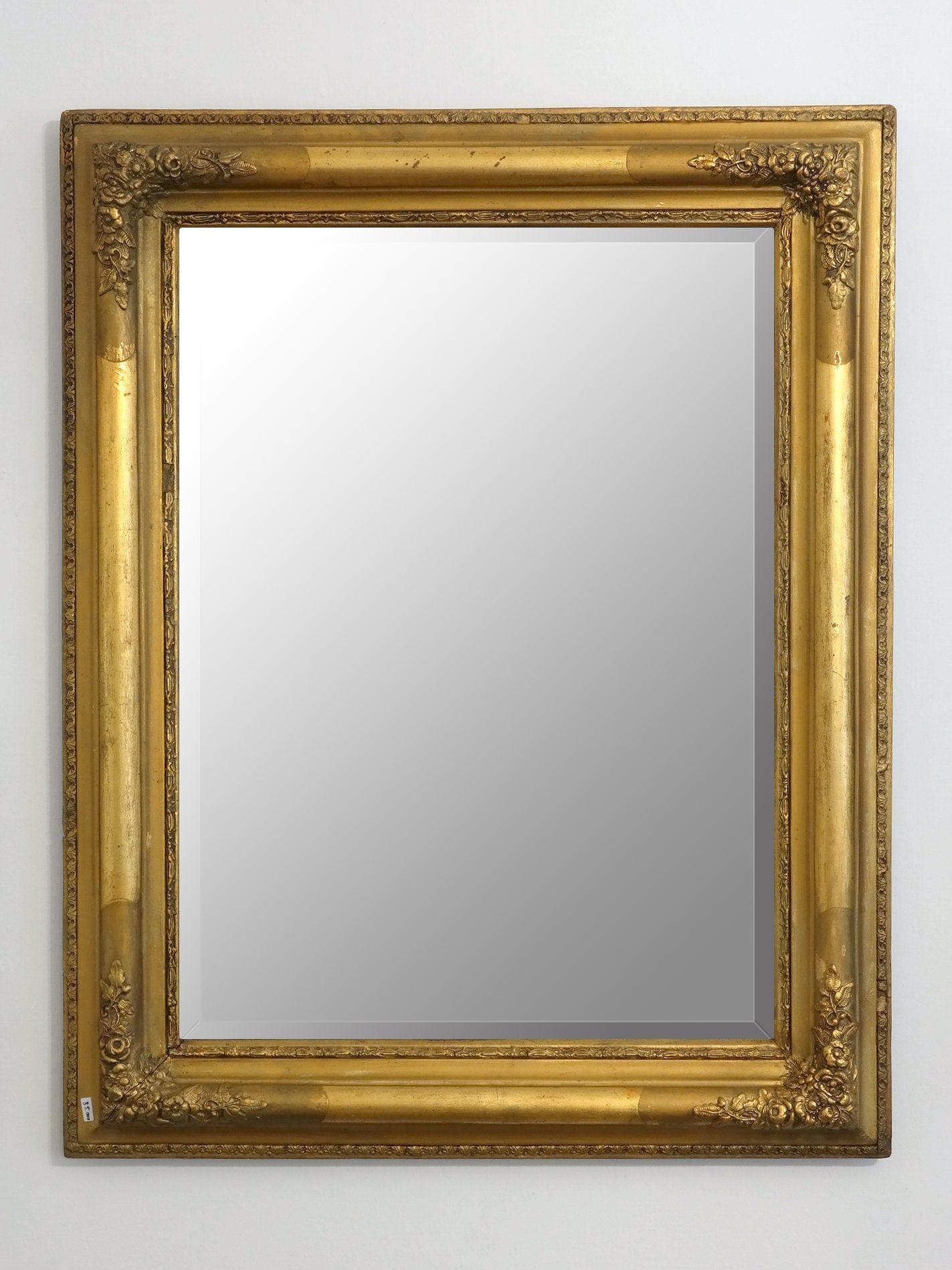 metszett tükör rózsás blondel keretben