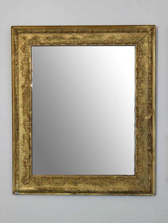 aranyozott tükör barokk dombormintával